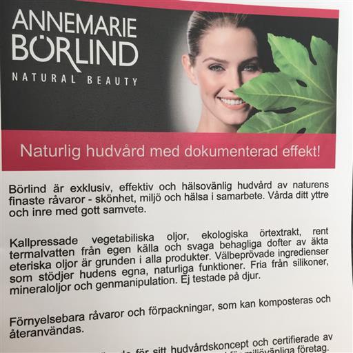 ANNEMARIE BÖRLIND naturlig hudvård