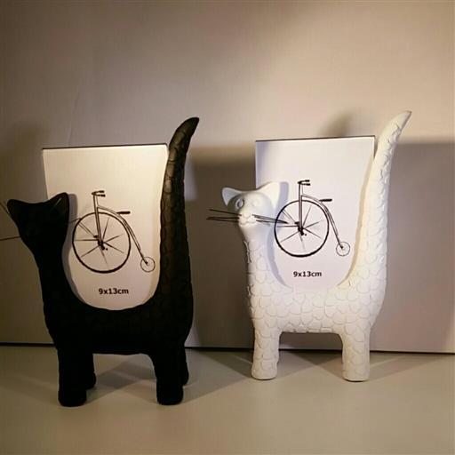 Katt fotoramar svart / vit