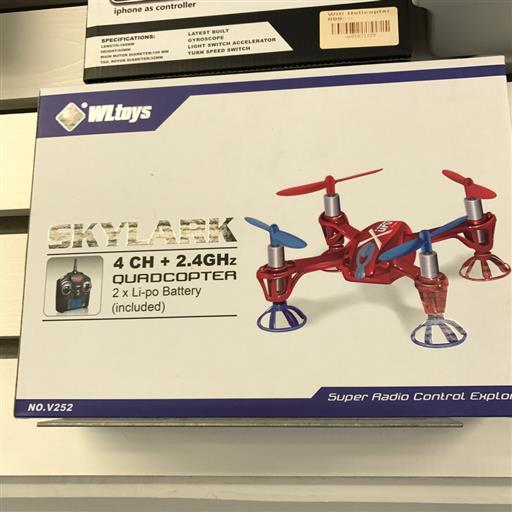Drönare från quadkopter - röd