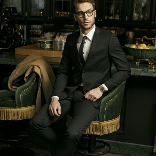 Dexter kostym Slim Fit svart