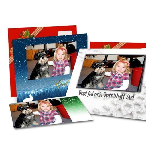 julkort med egen bild
