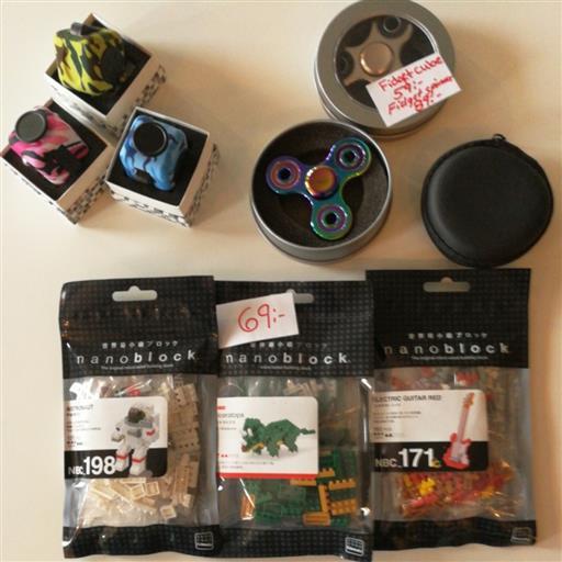 Fidgetcube, Fidgetspinner & nanoblock