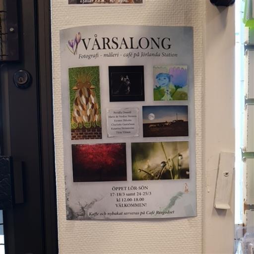 Vårsalong på Jörlanda station