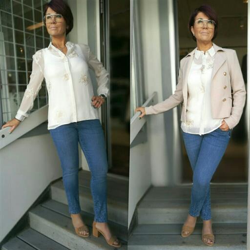 Lucca 7/8 dels jeans från Isay