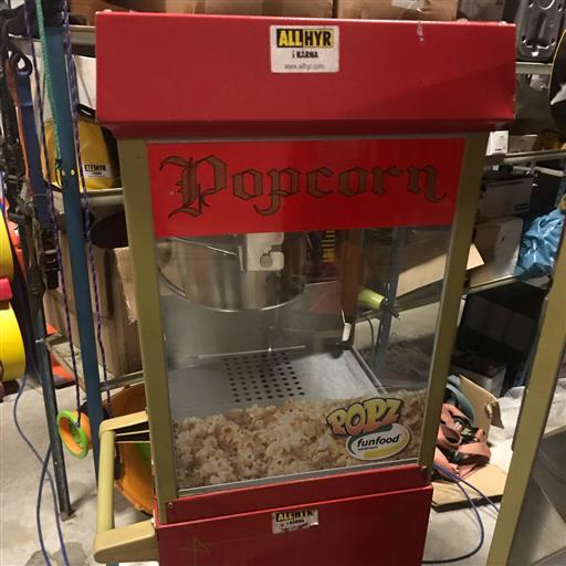 Hyr popcorn/sockervaddsmaskin