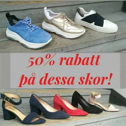 50% rabatt på utvalda skor