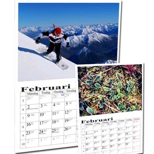 Fotokalender med egna bilder