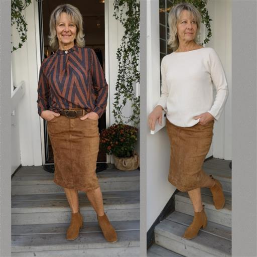 Alcantara kjol från Bessie