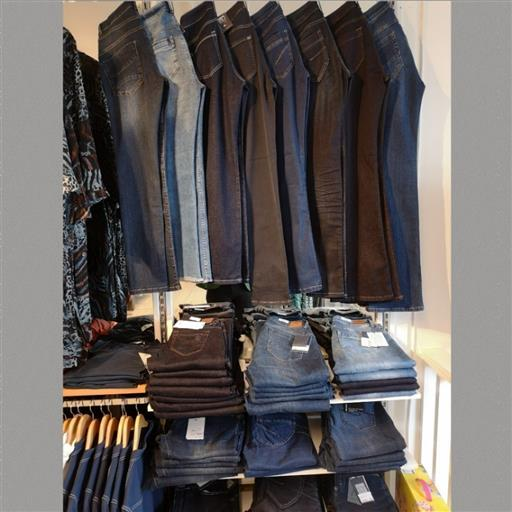 Jeans i långa banor...