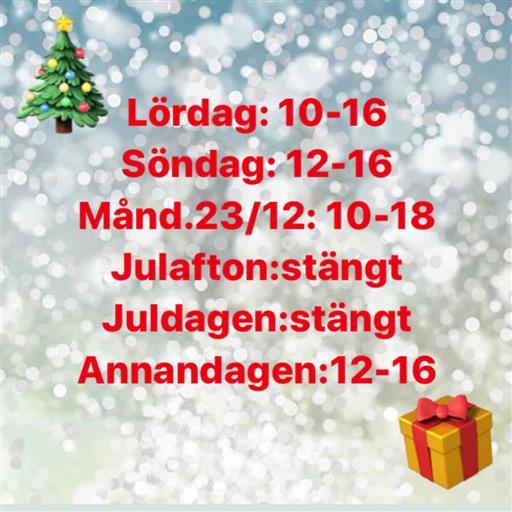 Julens öppettider!🎄
