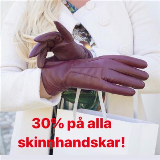 30% på alla skinnhandskar!