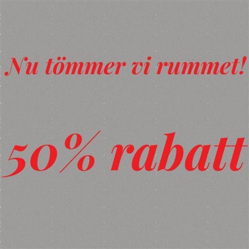 50% rabatt