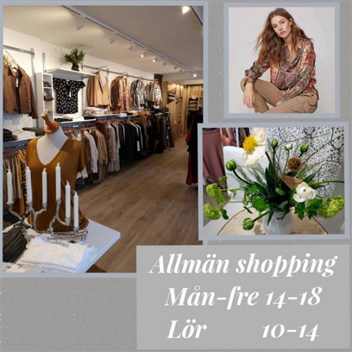 Allmän shopping  mån-fre14-18 lörd 10-14