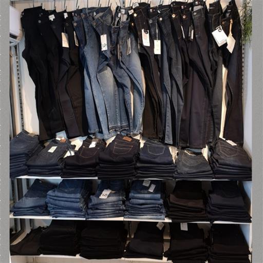 Jeans i långa banor.....